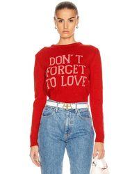 Alberta Ferretti Don't Forget To Love Sweater - Red