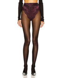 Saint Laurent Lace Culotte Underwear - Braun