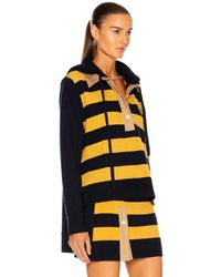 Monse Rugby Striped Knit Hoodie - Yellow