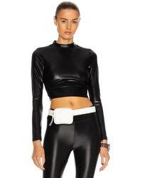 Koral Luca Infinity Long Sleeve Crop Top - Black