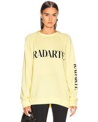 Rodarte Oversize Radarte Los Angeles Sweatshirt - Gelb