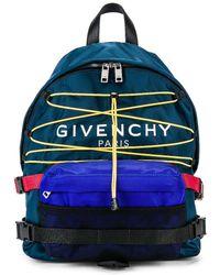 Givenchy Hiking Logo Backpack - Blue