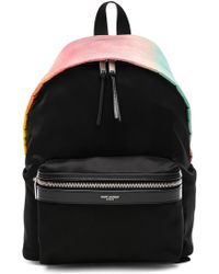 Saint Laurent - Mini Ombre Satin City Backpack - Lyst
