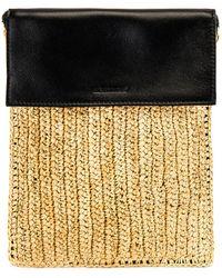 Jil Sander Raffia Crossbody Bag - Natural
