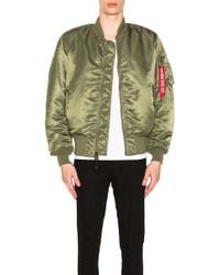 Alpha Industries Ma 1 Blood Chit Bomber Jacket - Green