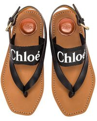 Chloé Woody Slingback Sandals - Black