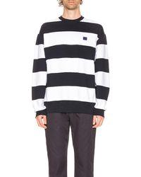 Acne Studios Forba Stripe Sweatshirt - Blue