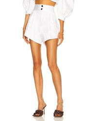 Adriana Degreas Solid Pleated Shorts - White