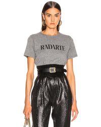 Rodarte Cropped Radarte T Shirt - Grau