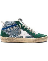 Golden Goose Deluxe Brand - Glittered Mid Star Sneakers - Lyst