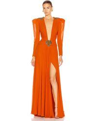 Dundas Embellished Dress - Orange