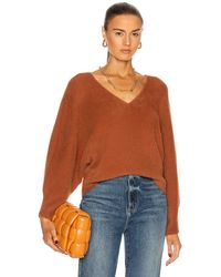 Michelle Mason Oversized V-neck Jumper - Multicolour