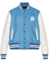 Amiri Letterman Jacket - Blau