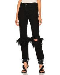 Preen By Thornton Bregazzi Ruffle Knee Flared Jeans - Black