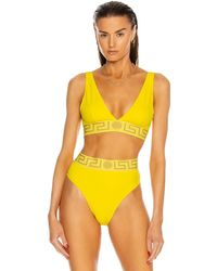 Versace Triangle Bikinioberteil - Gelb