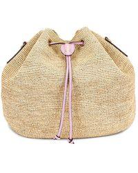 Mark Cross Joni Raffia Bag - Purple