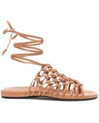 Alumnae - Knotted Leather Ankle Wrap Sandals - Lyst