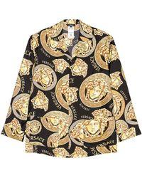 Versace Medusa All Over Shirt - Schwarz