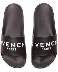 Givenchy Pantoletten Aus Gummi Mit Logoprint - Schwarz