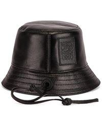Loewe Strap Bucket Hat - Black