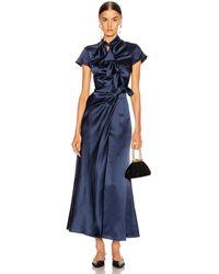 Saloni Kelly Dress - Blue