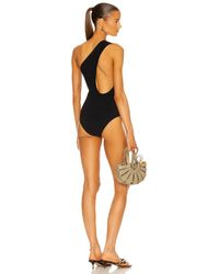 Bottega Veneta - One Shoulder One Piece Swimsuit - Lyst