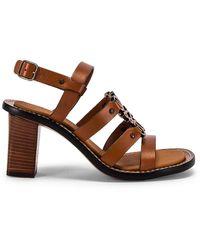Loewe Leather Anagram 70 Sandal - Brown