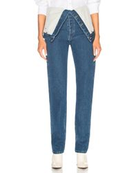 Y. Project - Foldover Waistband Jeans - Lyst