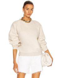 Agolde Nolan Drop Shoulder Sweatshirt - Natural