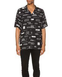 Ksubi You Have Been Warned Resort Short Sleeve Shirt - Schwarz
