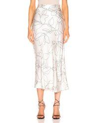 Equipment Iva Floral-print Silk Midi Skirt - White