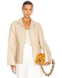 Totême Avignon Leather Jacket - White