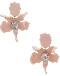Lele Sadoughi Crystal Lily Pierced Earrings - Pink