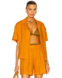 Asceno The Prague Shirt - Orange