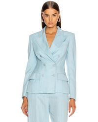 Alberta Ferretti Tailored Jacket - Blue