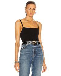 Totême Slim Strap Bodysuit - Black