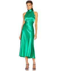 Saloni Michelle Midi B Dress - Green