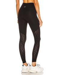 Beyond Yoga Mesh It Up High Waisted Midi legging - Black