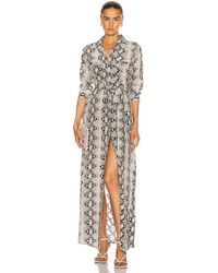 L'Agence Cameron Long Shirt Dress - Multicolour