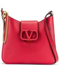Valentino Small Vsling Hobo Bag - Red