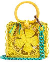 Silvia Tcherassi Camile Bag With Chain Strap - Yellow