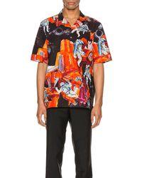 Valentino Space-print Shirt - Orange