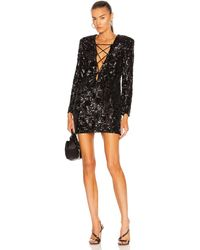 Daniele Carlotta Sequin Mini Dress - Black