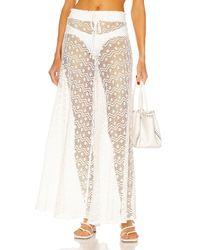 PATBO Crochet Trousers - White