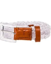 Y. Project Transparent Braided Belt - Multicolor