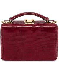 Mark Cross Mini Grace Lizard Print Bag - Red