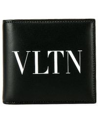 Valentino Logo Wallet - Black