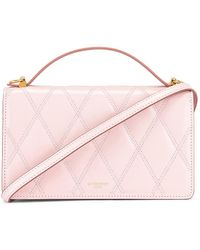 Givenchy GV3 Quilted Leather Strap Wallet Bag - Pink