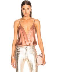 Michelle Mason - Cami Wrap Bodysuit - Lyst