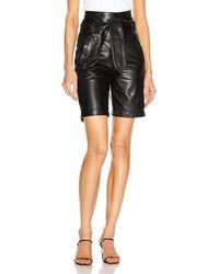 Marissa Webb Brennan Leather Bermuda Short - Black
